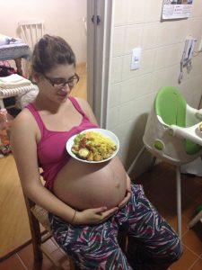 comer durante o parto