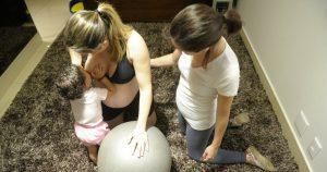 exercício com bola