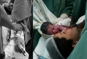 mãos amarradas parto cesárea