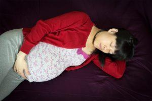 gestante dormindo