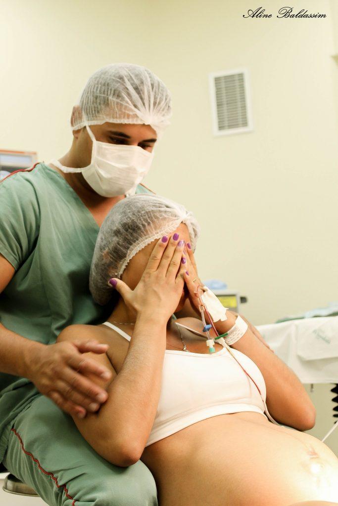 foto do trabalho de parto e nascimento da Melissa