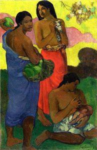pintura de mulher amamentando