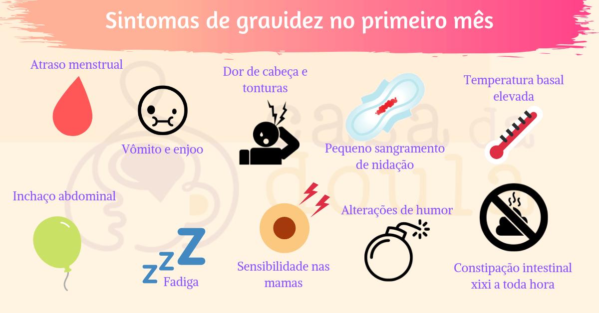10 sintomas de gravidez